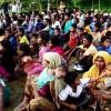 রোহিঙ্গারা স্লোগান দিচ্ছে 'ন যাইয়ুম, ন যাইয়ুম'